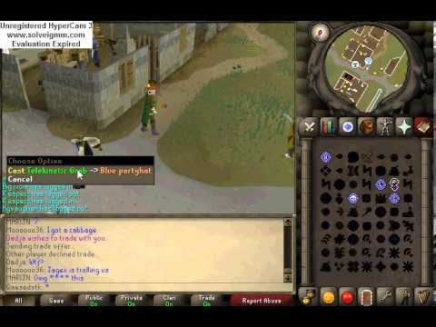 Jagex troll and a friend's skype reaction