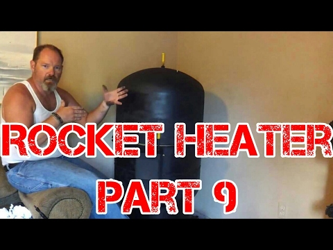 Rocket Heater Wood Stove Build Part 9