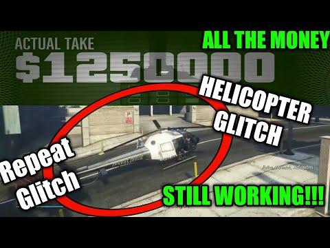 GTA 5 Pacific Standard Heist Helicopter Glitch All Money (Still Working)