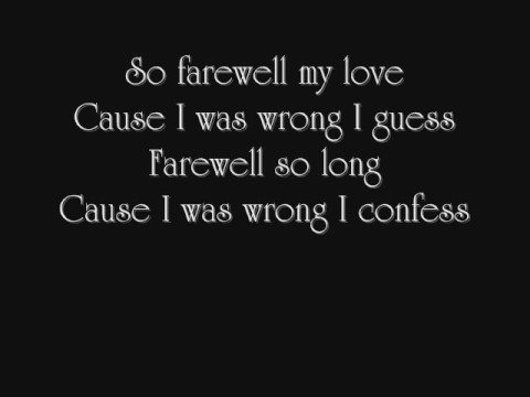 Farewell By Rosie Thomas W  Lyrics video