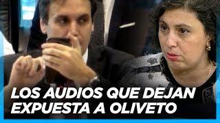 Ramos Padilla reprodujo los audios que vinculan a Paula Oliveto con D'Alessio en tareas de espionaje