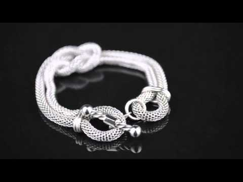 0 Rebel 316 Jewelry Womens Stainless Steel Chain Bracelet with Hercules Knot   RBBR545