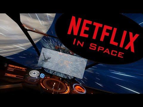 Netflix In SPACE!! - OvrDrop + Elite Dangerous in HTC Vive
