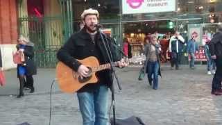 Snow Patrol, Chasing Cars, cover by Rob Falsini - busking in the streets of London, UK