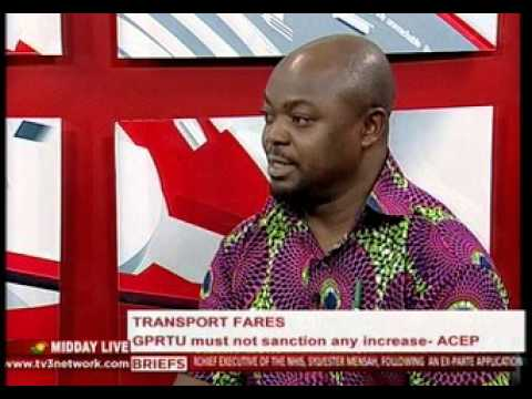 MiddayLive - GPRTU reacts to ACEP's suggestion on transport fares - 8/1/2016