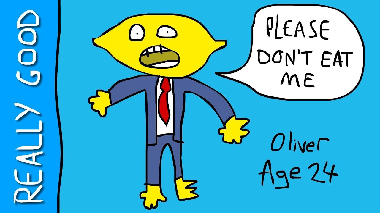 how to draw lemon guy