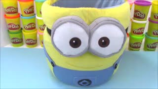 Minion Giant Surprise Egg Basket with Frozen Minecraft and TMNT Toys!