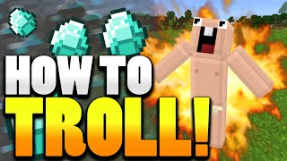 ✔ HOW TO TROLL | 3 MCPE Traps and Pranks