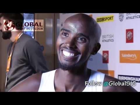 Mo Farah talks World Records at the British Indoor Grad Prix