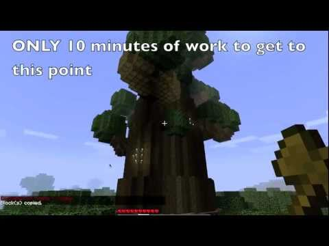 Minecraft World Edit Tutorial - Super Trees