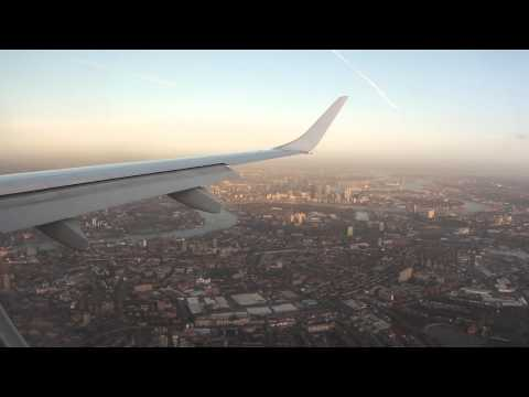 Lufthansa City Line ERJ190 landing @ London City Airport