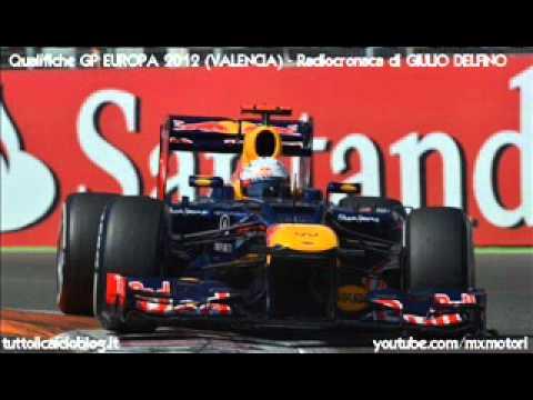 Qualifiche Gp Europa 2012 – Radiocronaca di Giulio Delfino (Valencia) da Radiouno RAI
