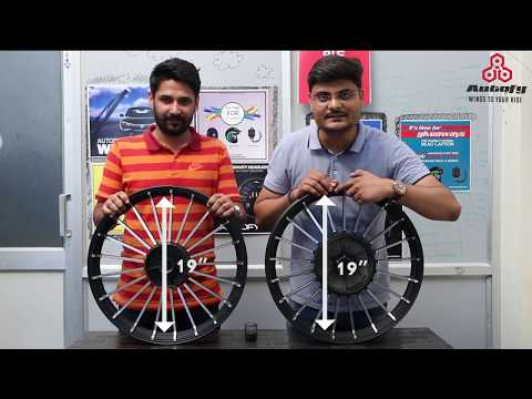 Autofy Alloy Wheel Size Guide for Royal Enfield Bullet Standard, Classic and Electra