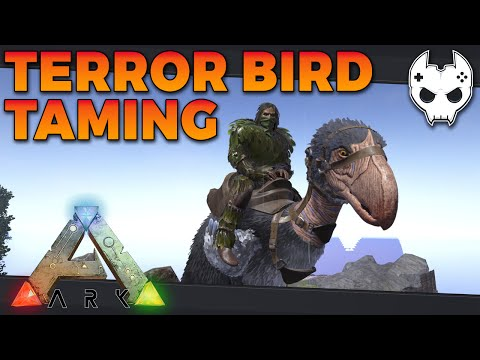 ARK: Survival Evolved - TERROR BIRD AND GRAPPLING HOOKS - S3E20 - Let's Play Gameplay