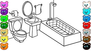 Mom and Dad's Bathroom | Coloring Book for Children