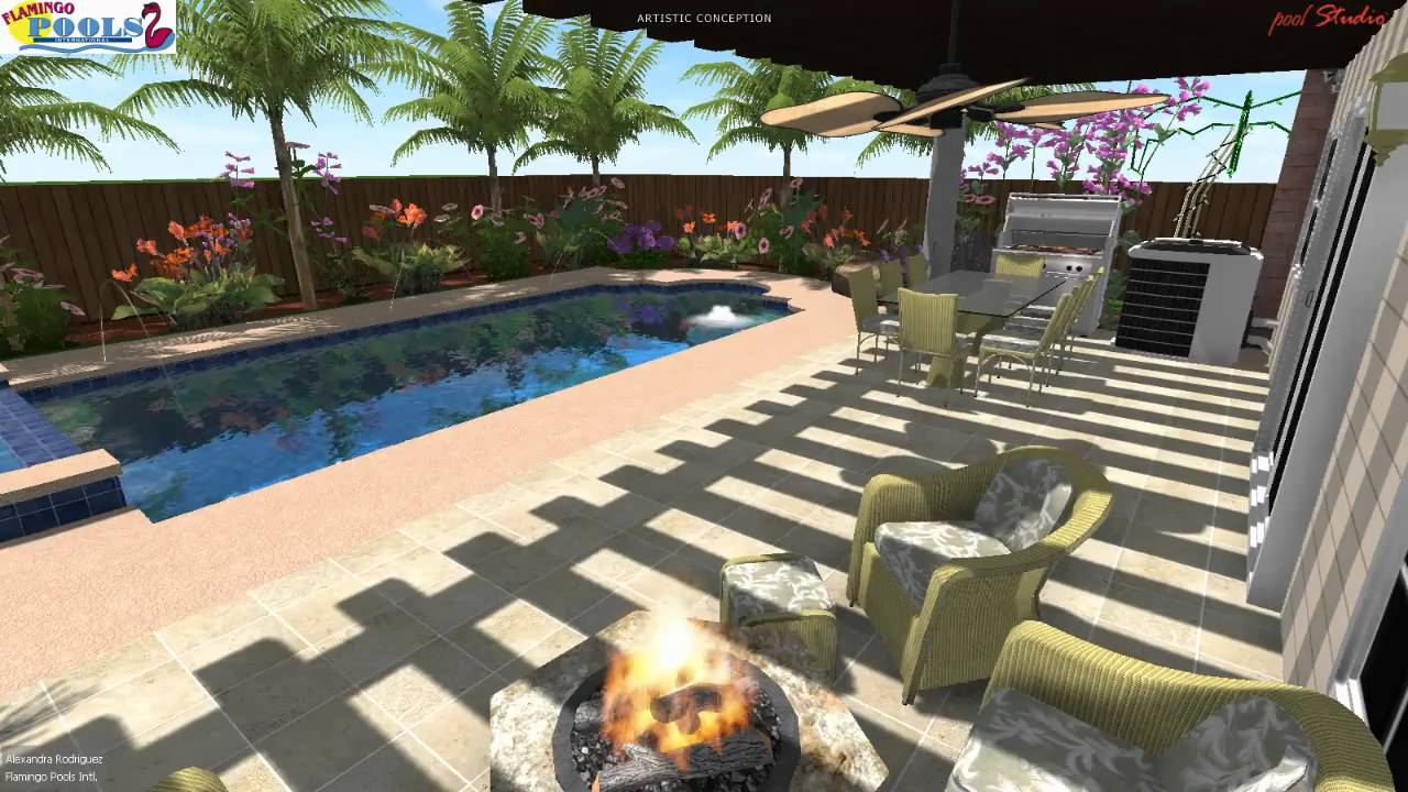 3d swimming pool design puerto rico youtube for Swimming pool design youtube