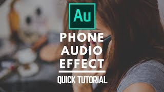 Phone Voice Effect using Audition like Andreas Hem