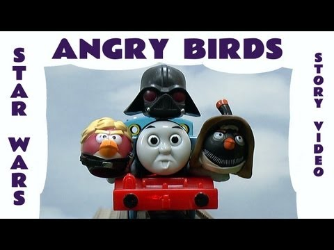 Angry Birds Star Wars Thomas and Friends Funny Story Accidents Darth Vader Battle Space Toy Parody