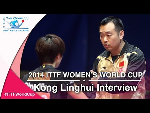 2014 ITTF Women's World Cup - Interview with Kong Linghui