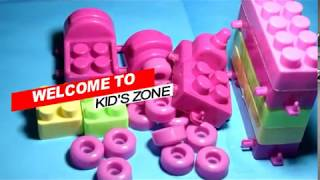 Building blocks, making long train   Baby Toyes   Kids Zone
