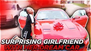 SURPRISING GIRLFRIEND WITH HER DREAM CAR!  (VERY EMOTIONAL)