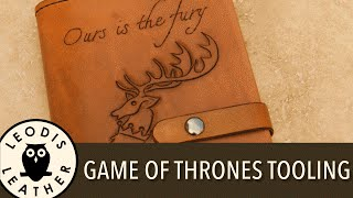 Making a Game of Thrones Leather Moleskine Cover, basic carving example