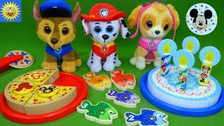 Paw Patrol Go Fishing for Numbers Games Best Learning Videos for Kids Mickey Mouse Cake Counting Toy