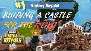 BUILDING A HUGE BRICK CASTLE FOR THE WIN (Fortnite Battle Royale)
