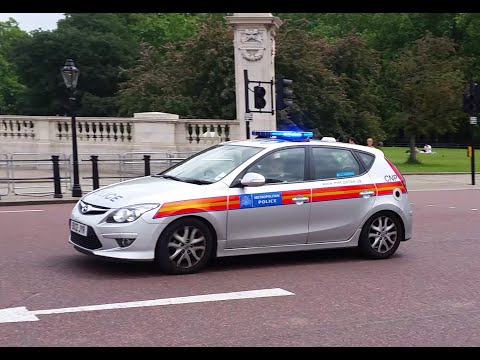 London Metropolitan Police Car Responding -- Hi-Lo Siren