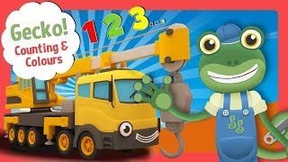 Videos for Toddlers with Gecko's Garage | Learn Big Truck Colours and Counting for Kids