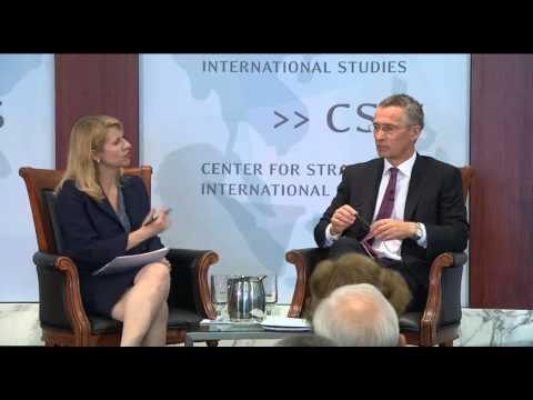 NATO's Jens Stoltenberg at Center for Strategic & International Studies (CSIS) Washington D.C. 1