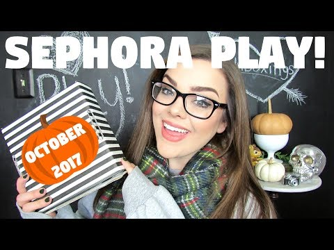 SEPHORA PLAY UNBOXING! WAS THIS BOX ANY GOOD? OCTOBER 2017