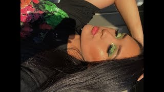 GREEN GLITTER EYE TUTORIAL
