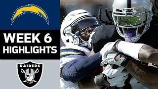 Chargers vs. Raiders | NFL Week 6 Game Highlights