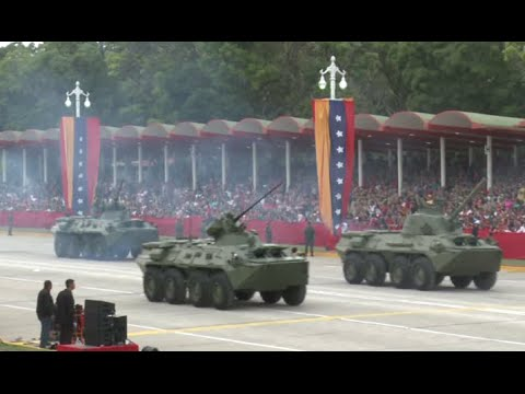 Tanks, military arsenal on display in Venezuela Independence Day parade