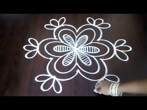Latest Easy Chukkala Muggulu || 3 x 2 Simple Dots Rangoli ||  || Fashion World