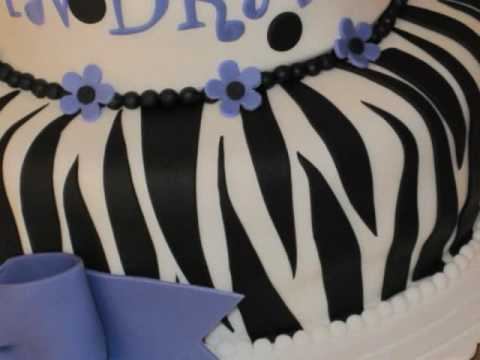 how to make a zebra out of fondant