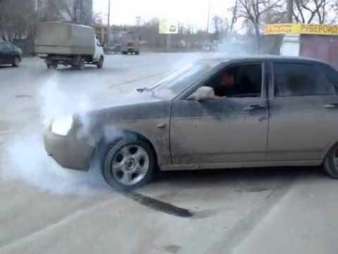 Lada Priora burnout или когда на работе делать нечего...