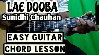 Lae dooba  Aiyaary  sunidhi chauhan  easy guitar l