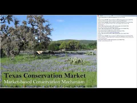 Market Based Conservation and Managing for Endangered Species