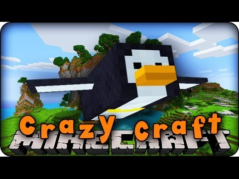 Minecraft Mods - CRAZY CRAFT - Ep # 32 'THE PENGUIN HUNT' (Orespawn Mod)