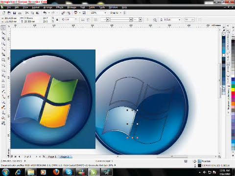 Corel Draw X5 tutorial Window 7 logo