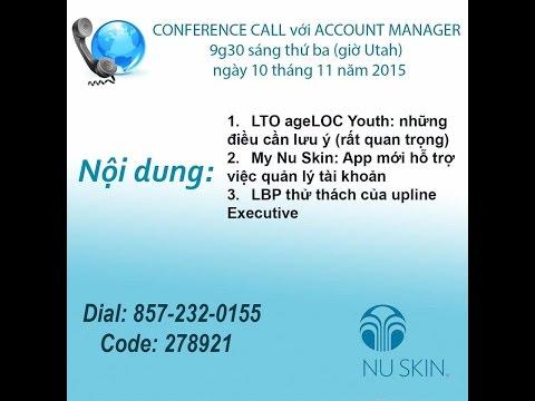 Nu Skin Account Manager Call rất QUAN TRỌNG chuẩn bị order LTO ageLOC YOUTH vào Nov. 12, 2015