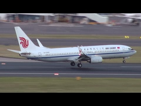 Air China B737-800 (B-5342) with Chinese President Xi Jinping on board landing 16R Sydney Airport 18/11/14. Full HD 1080p. A day's trip for President Xi in T...