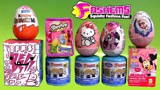 NEW Disney FROZEN FASHEMS Surprise Eggs BFFs My Little Pony SHOPKINS Play-Doh Peppa Barbie Collector