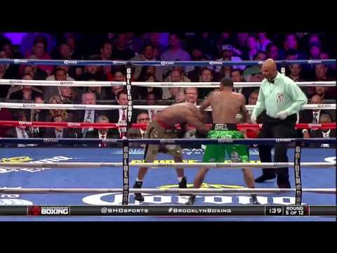 Dirrell Knocks Down Bika  SHOWTIME Boxing