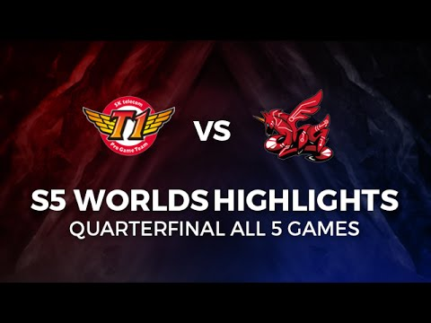 SKT vs AHQ Highlights All games Quarter Final 2015 LoL World Championship