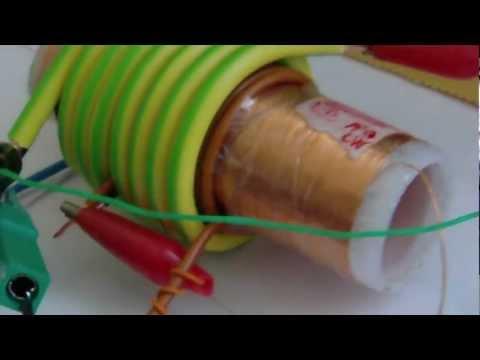 Mini Kapanadze resonator - 12V LEDs Lamp with only HV at 4.5 - 100% light
