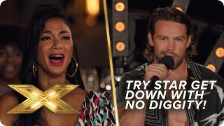 It goes DOWN when Try Star perform 'No Diggity' | X Factor: Celebrity