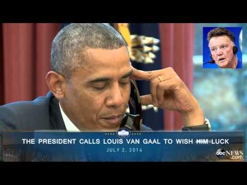 President Obama Calls Louis Van Gaal - FIFA World Cup